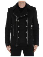Balmain Zipped Coat - Black