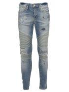 REPRESENT Biker Jeans - Sand blue