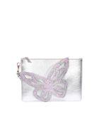 Sophia Webster Flossy Butterfly Pouch - Silver