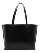 Tory Burch 'perry' Leather Shopping Bag - Black