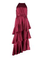 Zimmermann Silk Dress With Frills - Red-purple or grape