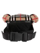Burberry Bear Checked Print Belt Bag