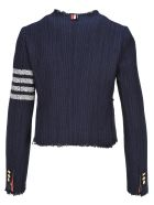 Thom Browne Cardigan Tweed Jacket - NAVY
