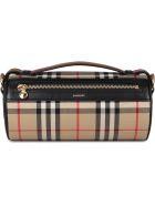 Burberry Barrel Vintage Check Crossbody Bag - Beige
