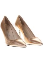 Marc Ellis Laminated Salmon Color Leather Pumps - Salmon