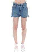 GCDS Logo Band Denim Shorts - Light blue