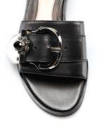 Alexander McQueen Embellished Flat Sandals - Black