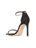 Stuart Weitzman Heel 9.5 With Laminated Details - Black Graphite Black Graphite