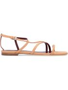 STAUD Gitane Leather Flat Sandals - skin