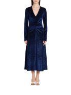 Rotate by Birger Christensen Velvet Dress Number 7 - Blu