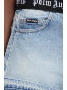 Palm Angels Shorts In Cyan Denim - Azzurro