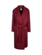 Agnona Tie-waist Coat - Red