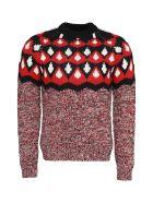 Prada Jacquard Sweater - red