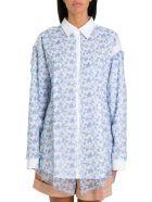 Acne Studios Overlay-chiffon Shirt - Blu