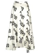 MISBHV Misbhv Polish Jazz Print Skirt - WHITE + BLACK PRINT