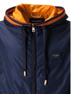 Dolce & Gabbana Logo Patch Hooded Jacket - Blu scurissimo 5