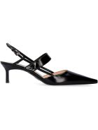 Prada Leather Pointy-toe Slingback - black