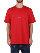 MSGM Red Cotton T-shirt - Red