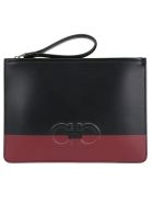 Salvatore Ferragamo Firenze Clutch - Nero/red ferragamo