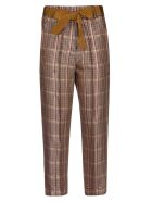 Alysi Checked Trousers - Multicolor