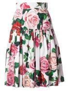 Dolce & Gabbana Floral Skirt - Bianco naturale