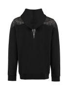 Marcelo Burlon Printed Hoodie - black