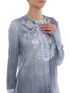 Ermanno Scervino Embroidered Stripe Shirt - Azzurro