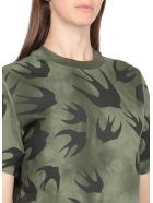 McQ Alexander McQueen Swallow Swarm T-shirt - MILITARY KHAKI