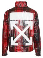 Off-White Checked Jacket - Multicolor