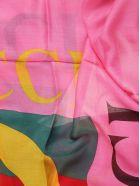 Gucci Logo Shawl - Fuchsia
