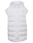 MSGM Giubbino/sleeveless Down Jacket - Optical White