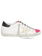 Golden Goose Superstar Sneakers - White/glossy pink