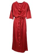 Y/Project Y/project Tie Waist Shirt Dress - RED