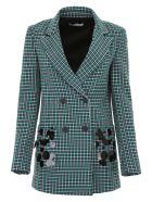 Vivetta Check Blazer With Sequins - GREEN|Verde
