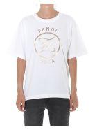 Fendi Karligraphy Logo Tshirt - White
