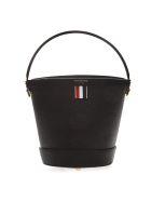 Thom Browne Black Leather Bucket Bag - Black