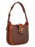 Etro Pegaso Fabric Shoulder Bag - brown