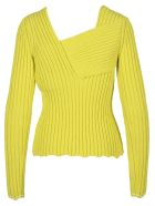 Bottega Veneta Interwoven Ribbed Sweater - LEMON