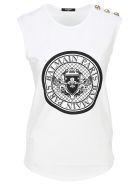 Balmain Balmain Medallion Print T-shirt - WHITE