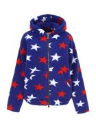 Forte Couture Jacket With Stars - BLUE RED WHITE (Blue)