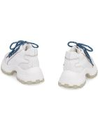 Miu Miu Maxi Sole Leather Sneakers - White