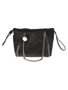 Stella McCartney Medium Reversible Tote Falabella Shaggy - Black