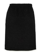 Boutique Moschino Bouclé Wool Skirt - black