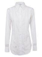 Thom Browne Lace-up Back Long Sleeve Shirt - White