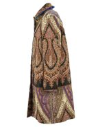 Etro Paisley Pattern Wool And Silk Blend Coat - Fantasia