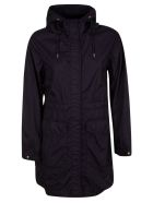 Woolrich Mid-length Concealed Jacket - Melton Blue