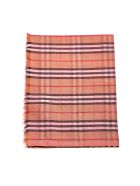 Burberry Colour Block Checked Scarf - Rosa multicolor