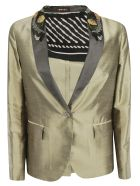 Ibrigu Single Breasted Blazer - Bronze
