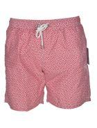 Hartford Geometric Print Swim Shorts - Red