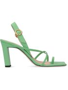 Wandler Elza Leather Sandals - green
